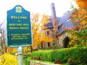 Entering Heritage Hill in Grand Rapids