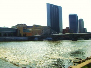 View of Grand Rapids from Gerald R. Ford Museum